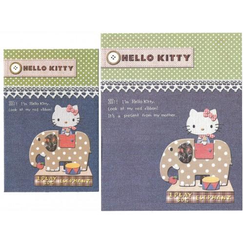 Ano 2008. Conjunto de Papel de Carta Hello Kitty Elephant Sanrio