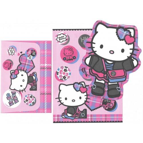 Ano 2008. Conjunto de Papel de Carta Hello Kitty Student Sanrio