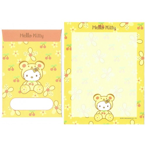 Ano 2009. Conjunto de Papel de Carta Hello Kitty 35th C7 Sanrio