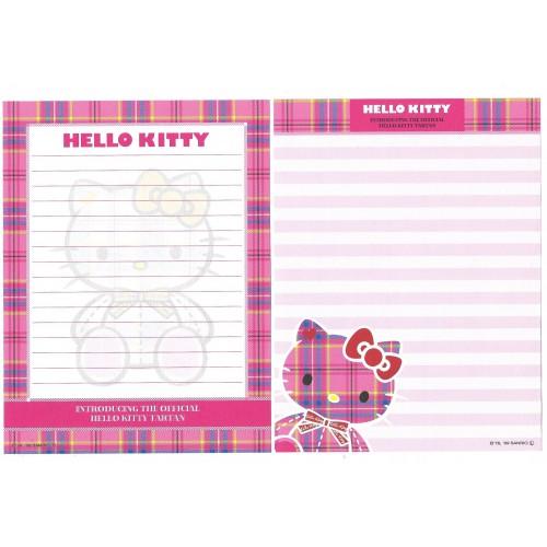 Ano 2009. Conjunto de Papel de Carta Hello Kitty Tartan 35th C2 Sanrio