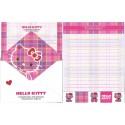 Ano 2009. Conjunto de Papel de Carta Hello Kitty Tartan 35th C3 Sanrio