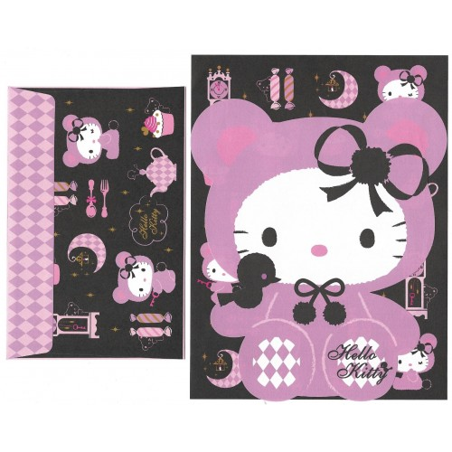 Ano 2009. Conjunto de Papel de Carta Hello Kitty Furry CLL Sanrio