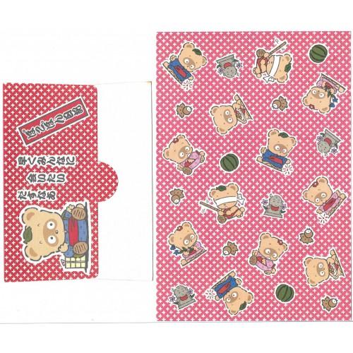 Ano 1988. Conjunto de Papel de Carta Vintage Pokopon's Diary Sanrio