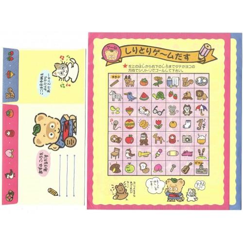 Ano 1992. Conjunto de Papel de Carta Vintage Pokopon's Diary R&S Sanrio