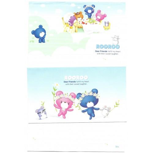 Conjunto de Papel de Carta Importado ROOROO Bear Ibis