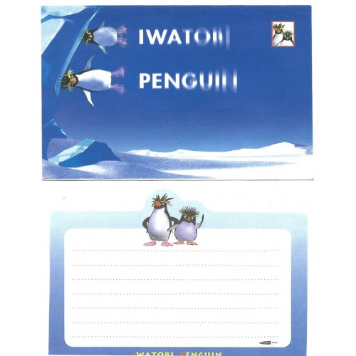 Conjunto de Papel de Carta Importado Iwatori Penguin