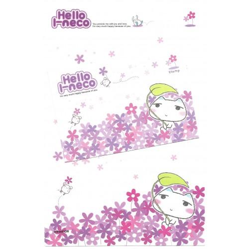 Conjunto de Papel de Carta Importado Hello I-neco 1