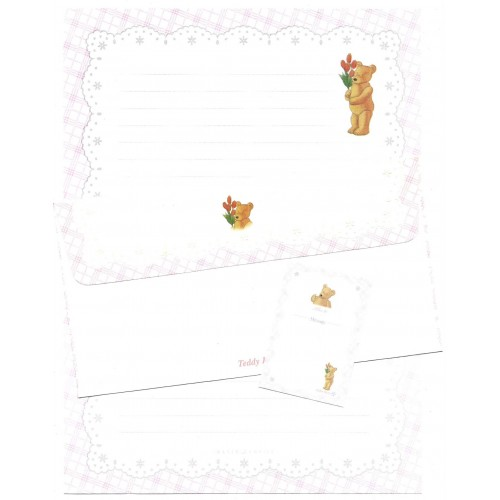 Conjunto de Papel de Carta Importado Teddy Bear Imagin Castle