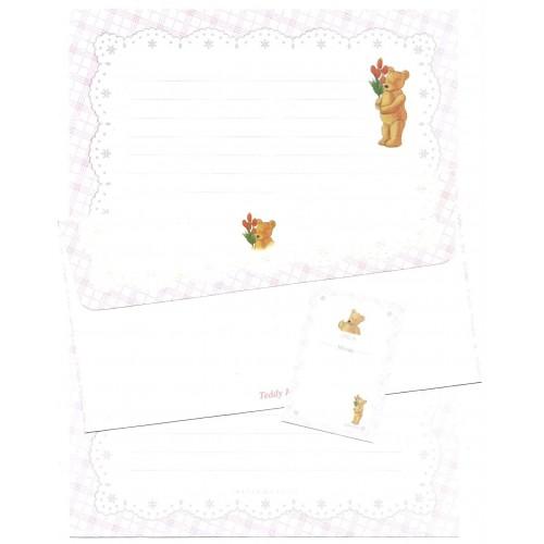 Conjunto de Papel de Carta Importado Teddy Bear Imagin Castle
