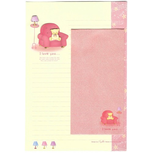 Conjunto de Papel de Carta Importado I Love You - Papier