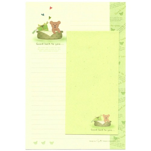 Conjunto de Papel de Carta Importado Good Luck - Papier