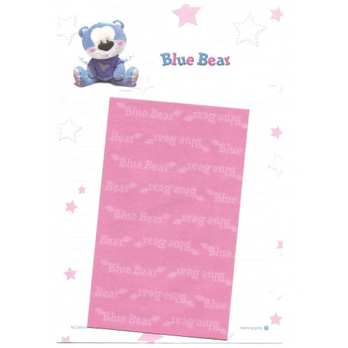 Conjunto de Papel de Carta Importado Blue Bear CRS - Morning Glory