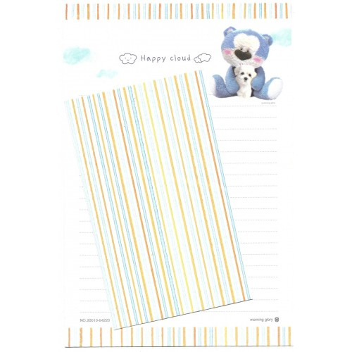 Conjunto de Papel de Carta Importado Blue Bear Happy Cloud
