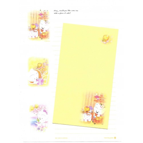 Conjunto de Papel Carta Importado BABU Yellow Morning Glory