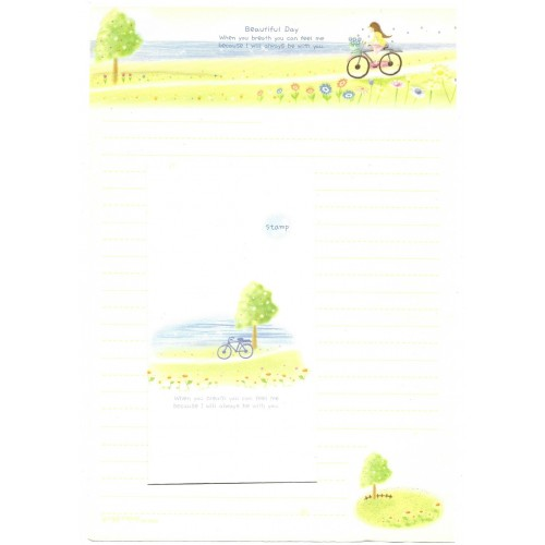 Conjunto de Papel de Carta Importado Beautiful Day - BS