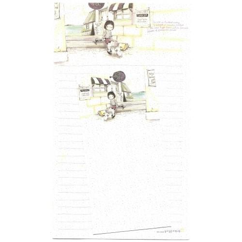 Conjunto de Papel de Carta Importado Cafe - BS