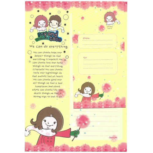 Conjunto de Papel de Carta Importado Roy And Coco CAM Yellow Bus