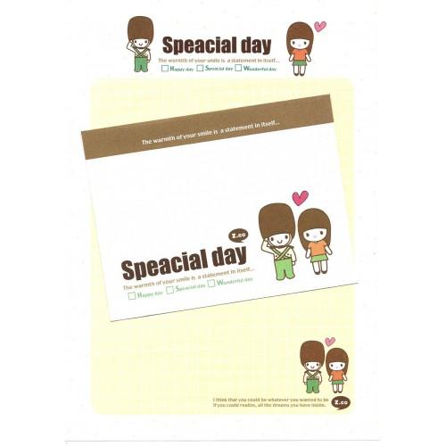 Conjunto de Papel de Carta Importado Special Day