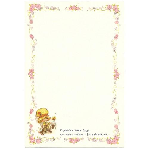 Papel de Carta Antigo Bonnie Bonnets CRS3 COM FRASE