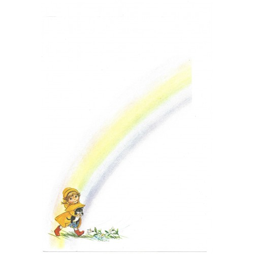 Papel de Carta Antigo Little Rainbows 1