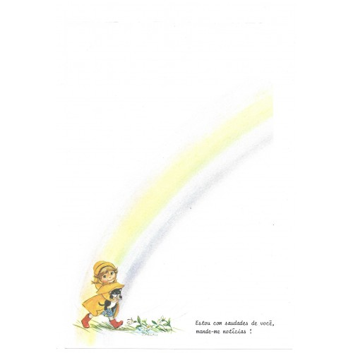 Papel de Carta Antigo Little Rainbows 2