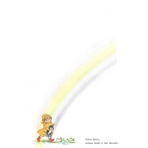 Papel de Carta Antigo Little Rainbows 3