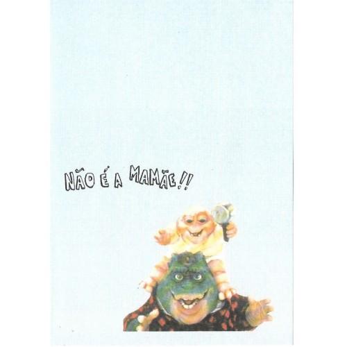 Papel de Carta ANTIGO Família Dinossauro 7