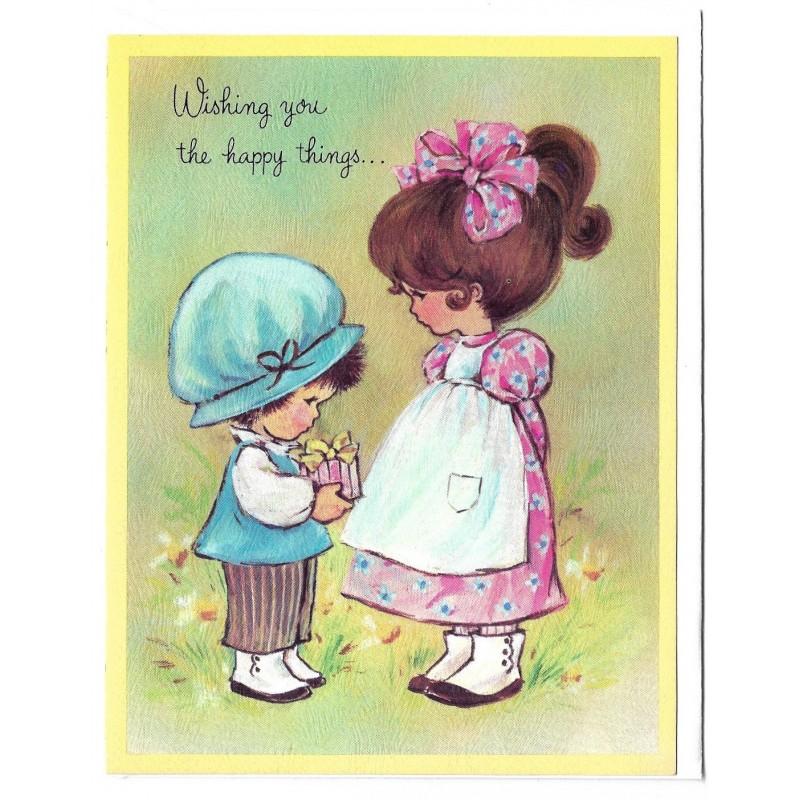 Notecard Cartão Antigo Importado Crest (CAM) - 25B355