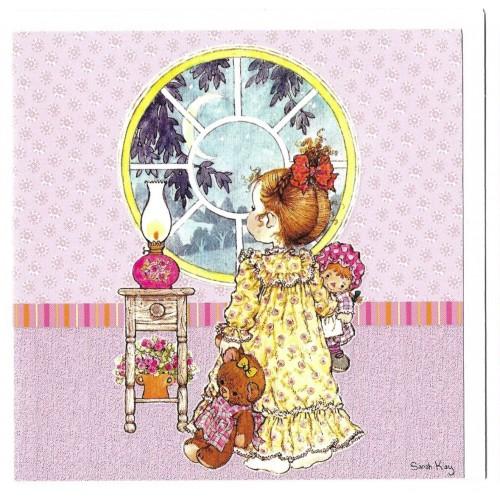 Ano 2009. Notecard Cartão Antigo Sarah Kay 1