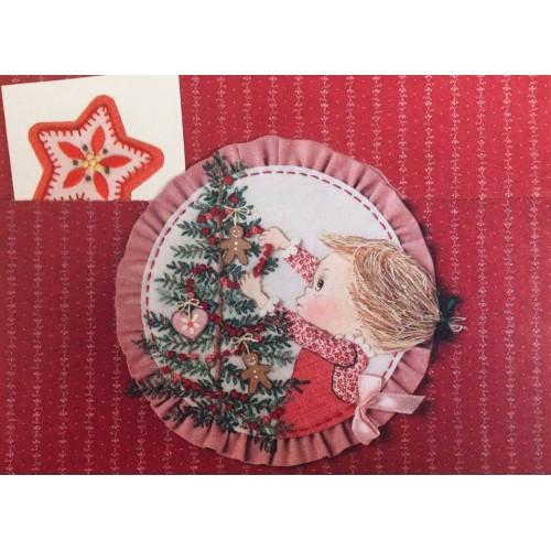 Postalete ANTIGO COM SELINHO Betsey Clark - Christmas Tree