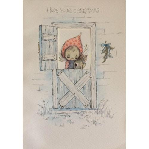 NOTECARD GRANDE IMPORTADO Betsey Clark - Christmas