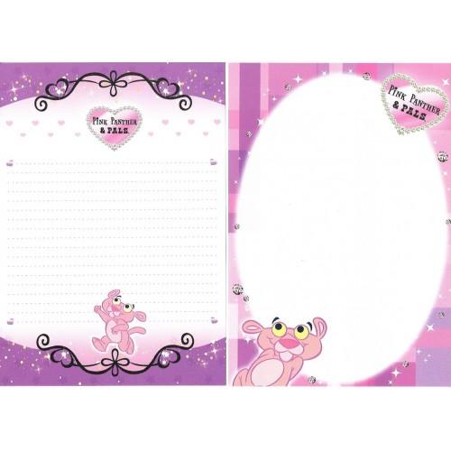 Lote 10 Papéis de Carta Pink Panther & Pals