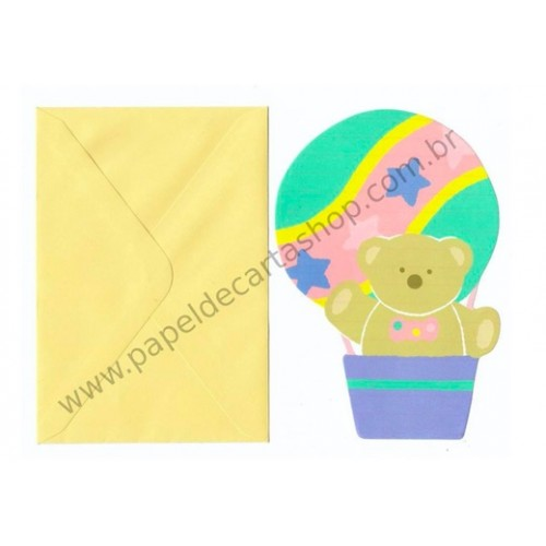 Ano 1986. Conjunto de Papel de Carta Bear Tin Balloon P Vintage Sanrio