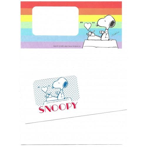 Conjunto de Papel de Carta Snoopy Letter Vintage Hallmark Japan