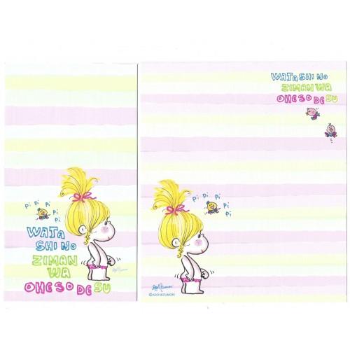 Conjunto de Papel de Carta com envelope ADO MIZUMORI 0068