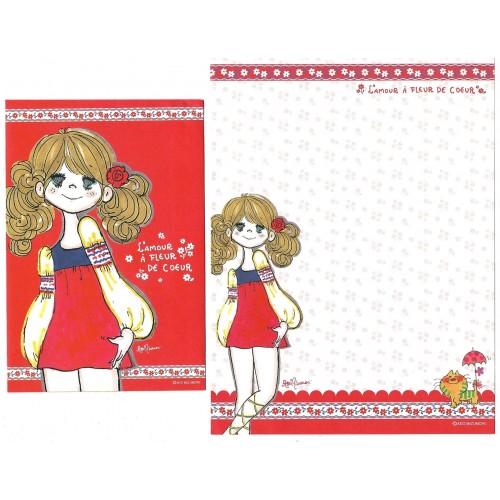 Conjunto de Papel de Carta com envelope ADO MIZUMORI 0069