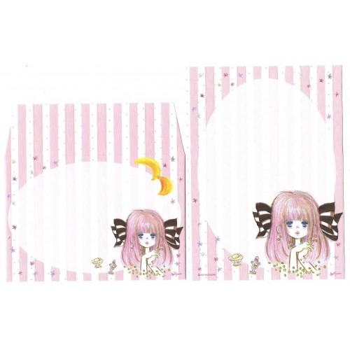 Conjunto de Mini-Papel de Carta com envelope ADO MIZUMORI 0076