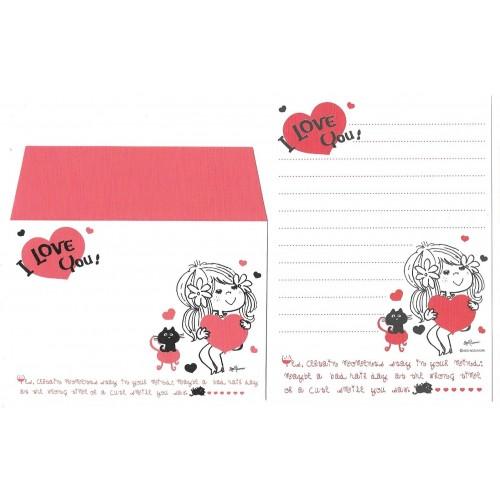 Conjunto de Mini-Papel de Carta com envelope ADO MIZUMORI 0077