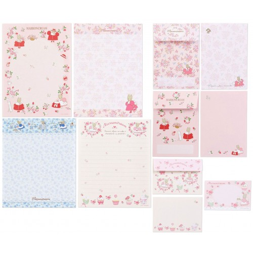 Ano 2019. Conjunto de Papel de Carta Marron Cream Five Sanrio