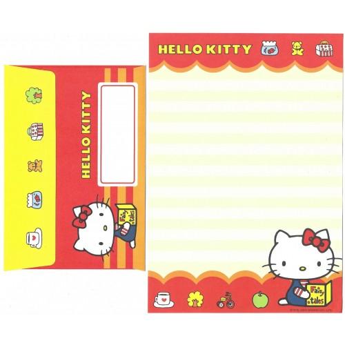 Ano 2004. Conjunto de Papel de Carta Hello Kitty Best Collection 23 Sanrio
