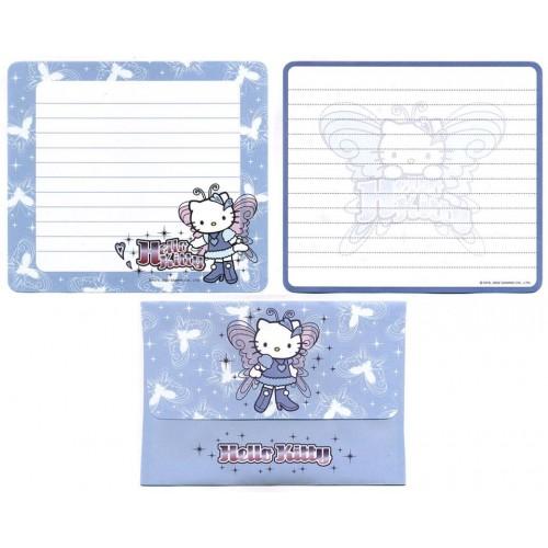 Ano 2002. Conjunto de Papel de Carta Hello Kitty Boots CAZ Sanrio
