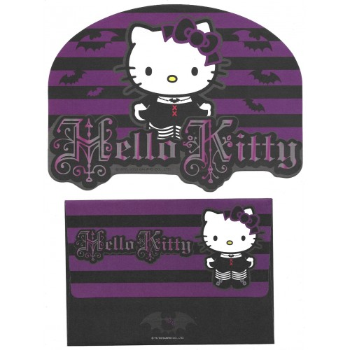 Ano 2003. Conjunto de Papel de Carta Hello Kitty Bat Sanrio