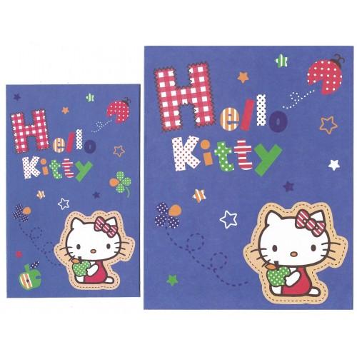 Ano 2009. Conjunto de Papel de Carta Hello Kitty Blue Sanrio