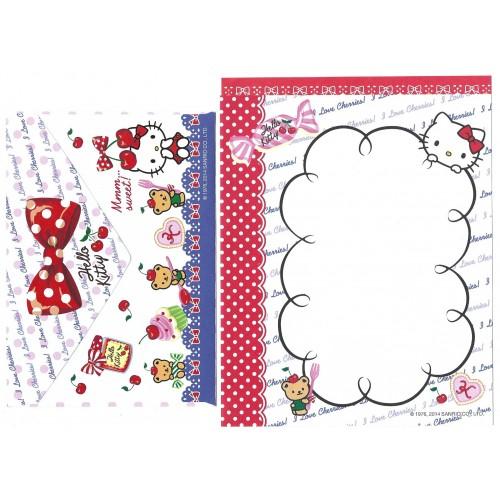 Ano 2014. Conjunto de Papel de Carta Hello Kitty Mmm Sweet 2 Sanrio
