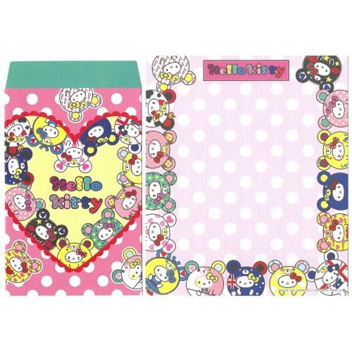 Ano 2013. Conjunto de Papel de Carta Hello Kitty Lucky 2 Sanrio