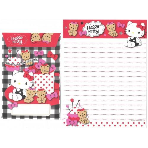 Ano 2012. Conjunto de Papel de Carta Hello Kitty Cupcakes B Sanrio