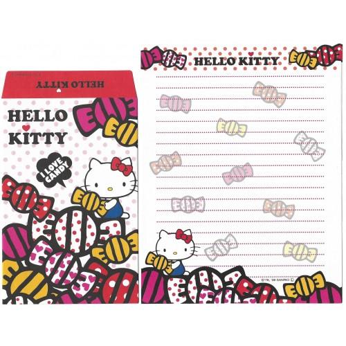 Ano 2009. Conjunto de Papel de Carta Hello Kitty LOVE CANDY1 Sanrio