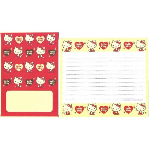 Ano 2009. Conjunto de Papel de Carta Hello Kitty CAM Sanrio