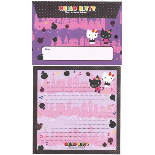 Ano 2007. Kit 3 Conjuntos de Papel de Carta Hello Kitty Friend Sanrio