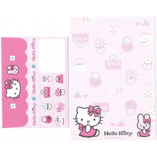Ano 2006. Conjunto de Papel de Carta Hello Kitty & Rabbit 2 Sanrio